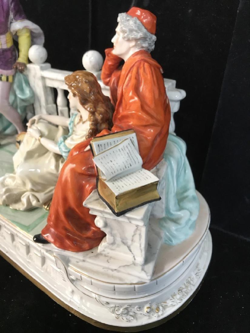 Signed Vintage Porcelain Figural Sculpture - 6