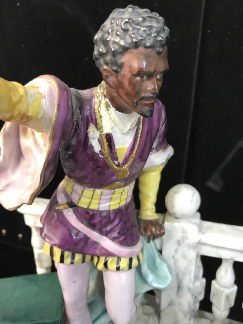 Signed Vintage Porcelain Figural Sculpture - 7