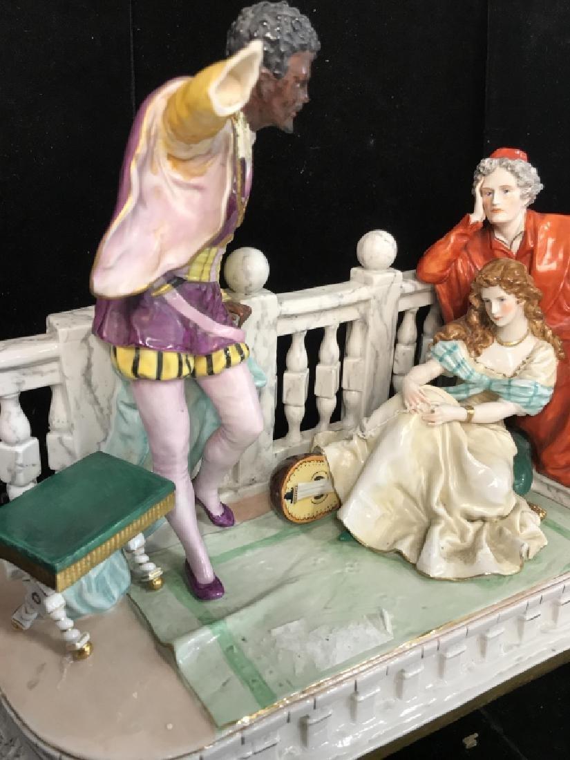Signed Vintage Porcelain Figural Sculpture - 8