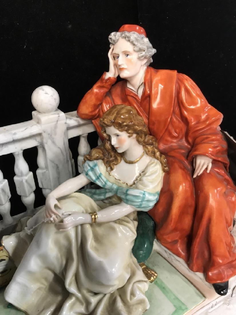 Signed Vintage Porcelain Figural Sculpture - 9