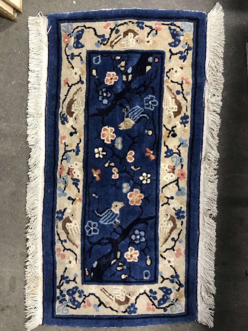 Vintage Handmade Chinese Art Deco Wool Rug - 2