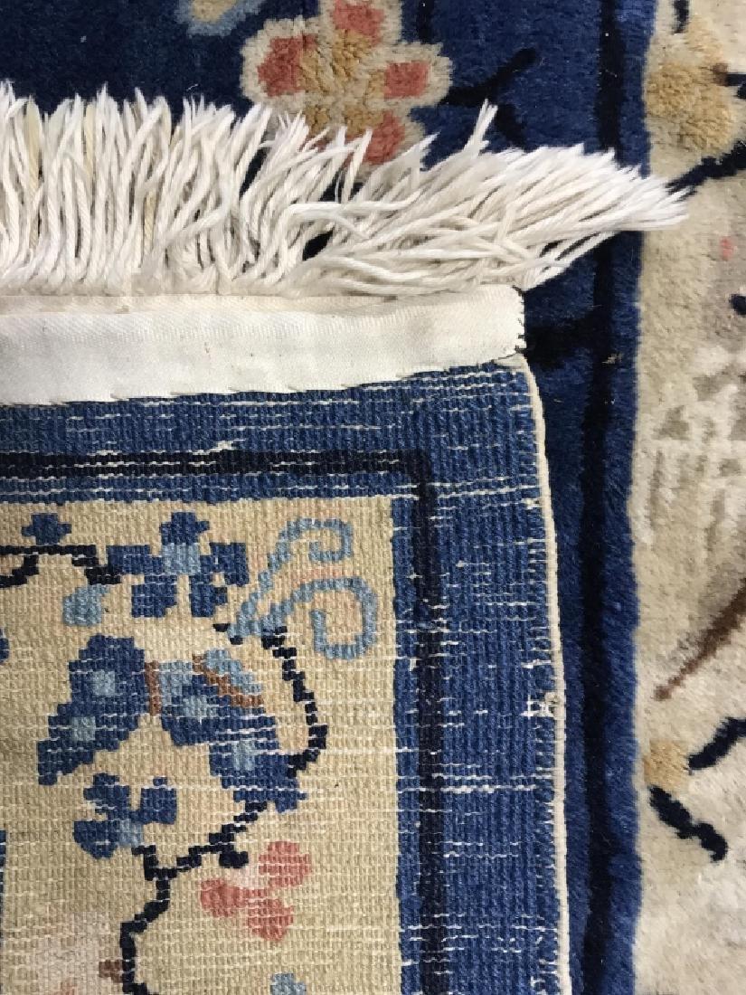 Vintage Handmade Chinese Art Deco Wool Rug - 5