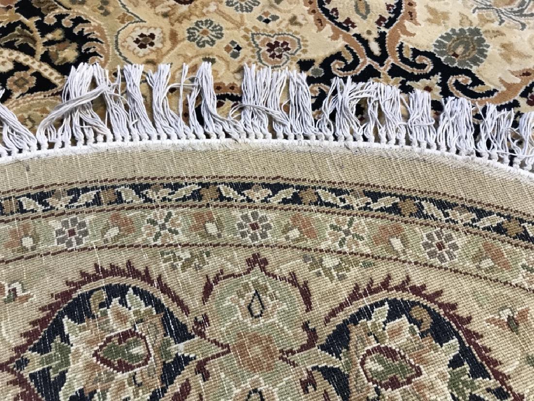 Handmade Circular Fringed Wool Rug - 7