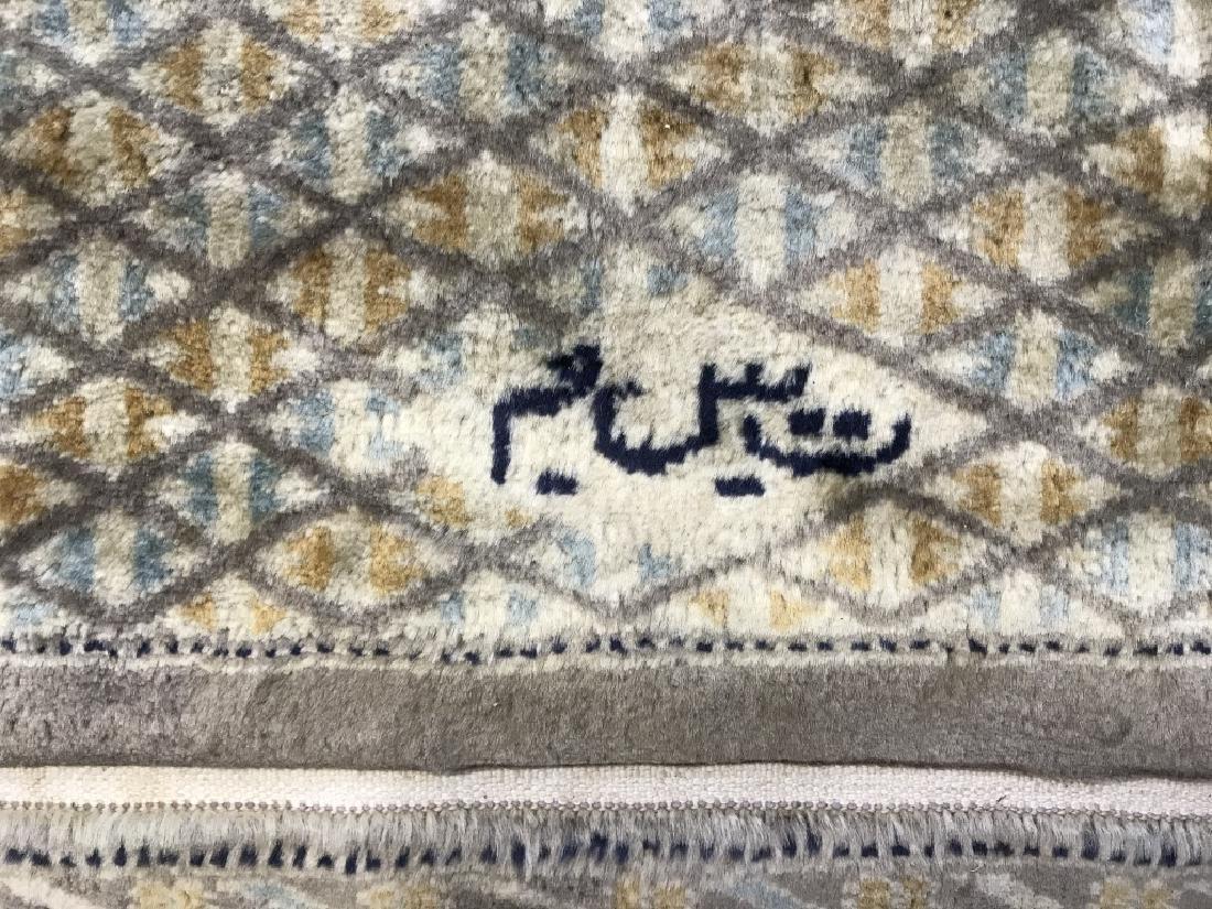 Bloomingdales Handmade Signed Fringed Rug - 5
