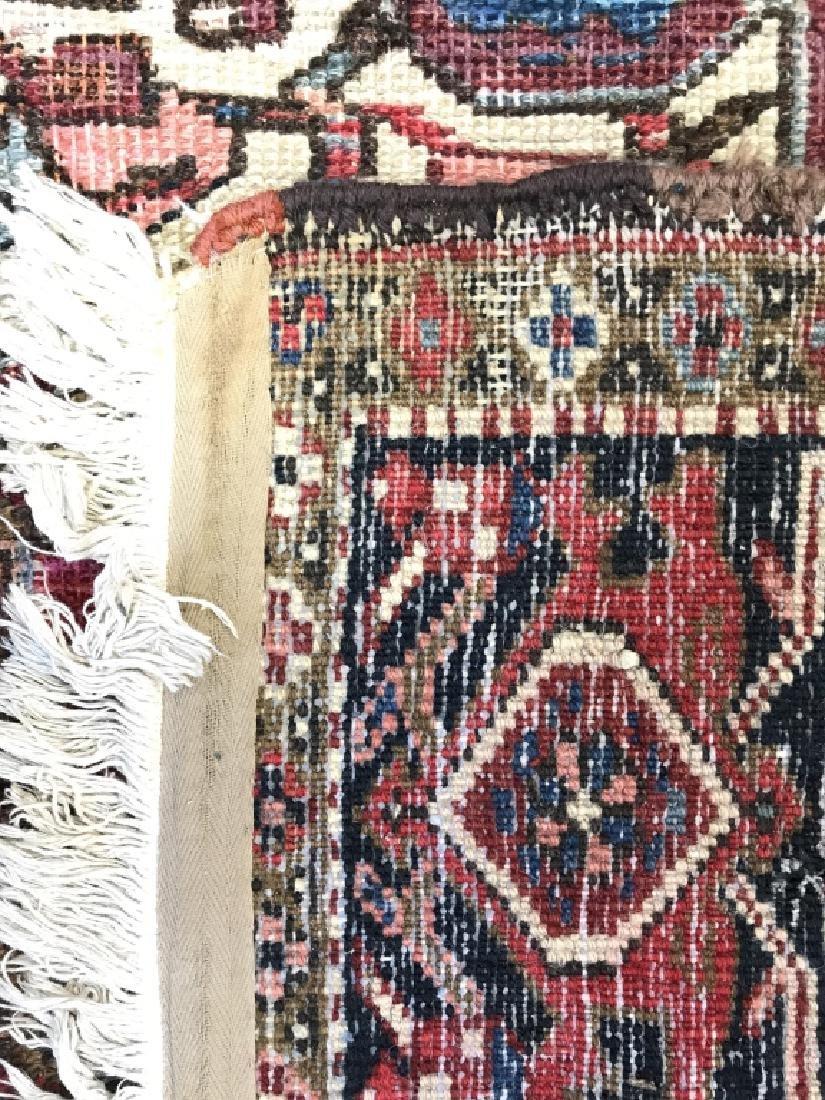 Vintage Handmade Intricately Detailed Persian Rug - 10