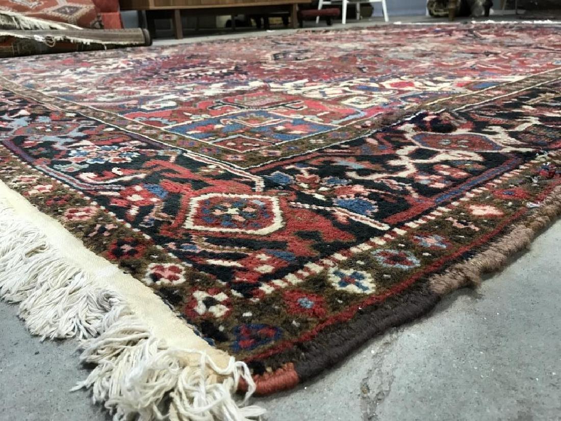 Vintage Handmade Intricately Detailed Persian Rug