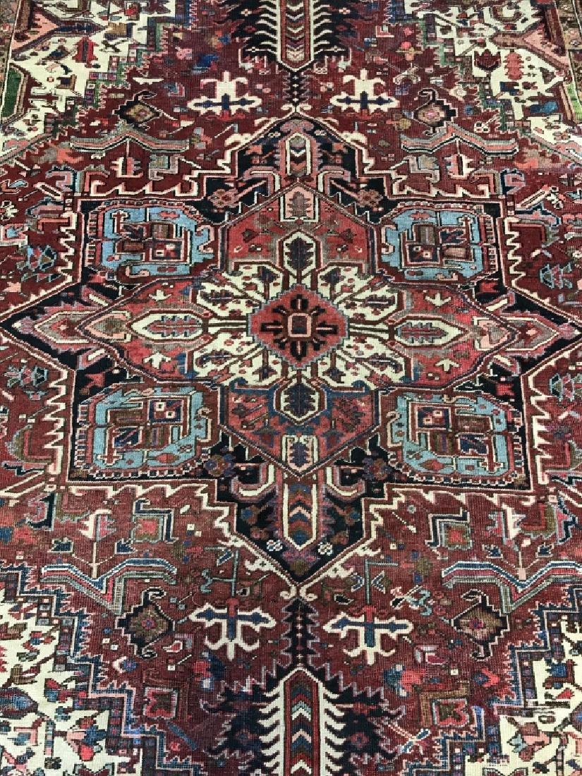 Vintage Handmade Intricately Detailed Persian Rug - 2