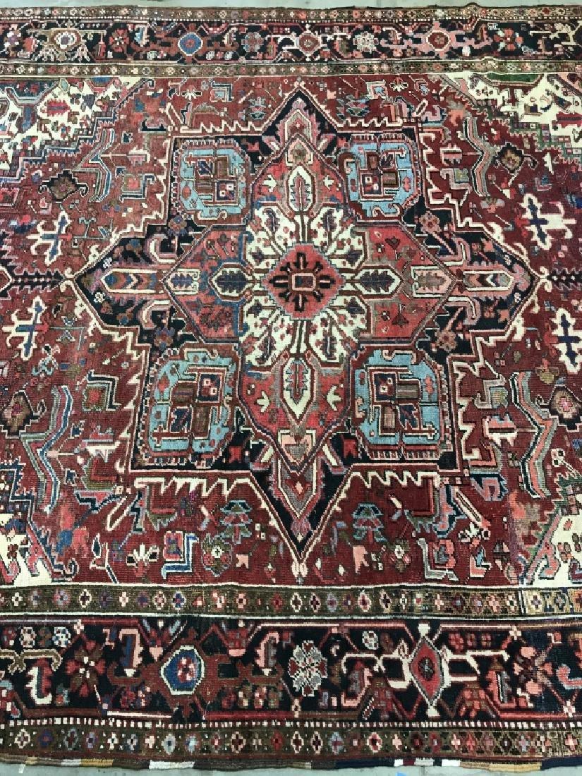 Vintage Handmade Intricately Detailed Persian Rug - 3