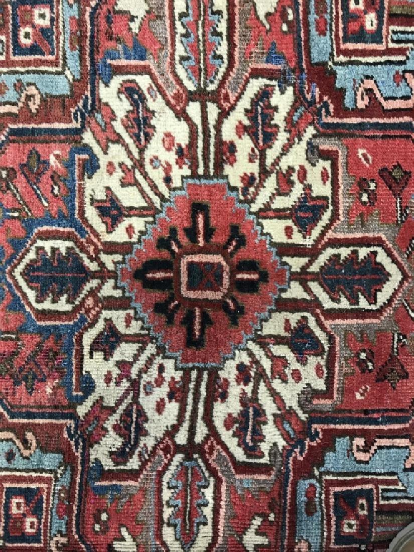 Vintage Handmade Intricately Detailed Persian Rug - 4