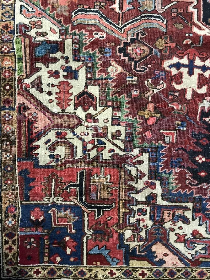 Vintage Handmade Intricately Detailed Persian Rug - 6