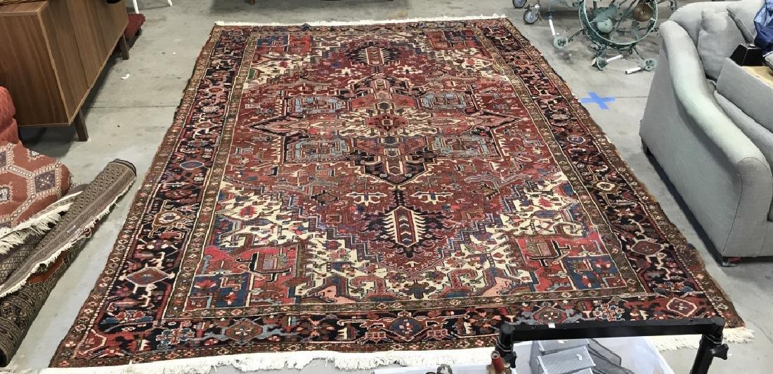 Vintage Handmade Intricately Detailed Persian Rug - 7