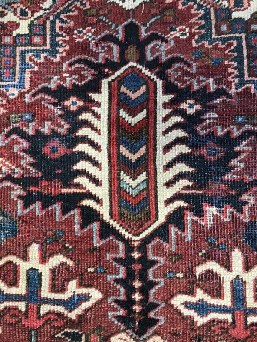 Vintage Handmade Intricately Detailed Persian Rug - 8