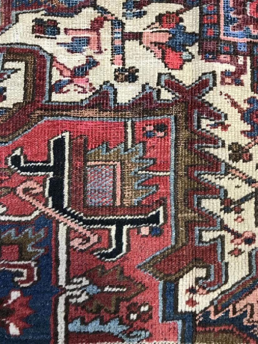 Vintage Handmade Intricately Detailed Persian Rug - 9