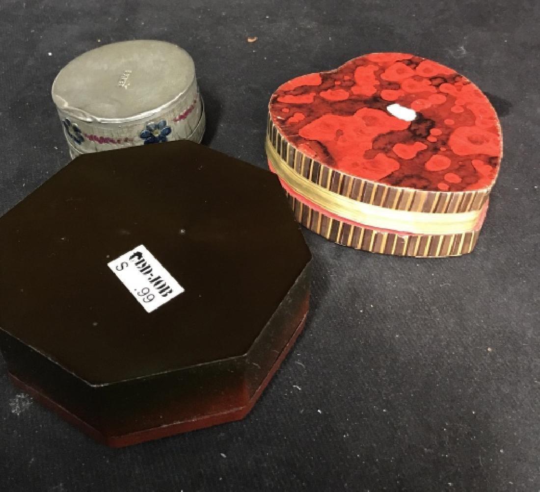 Lot of 3 Lidded Trinket Boxes - 2