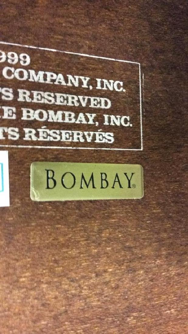 THE BOMBAY COMPANY Side Table On Casters - 8