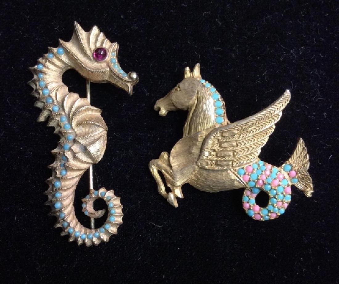 Lot 6 Women's Vintage Costume Animal Jewelry - 2