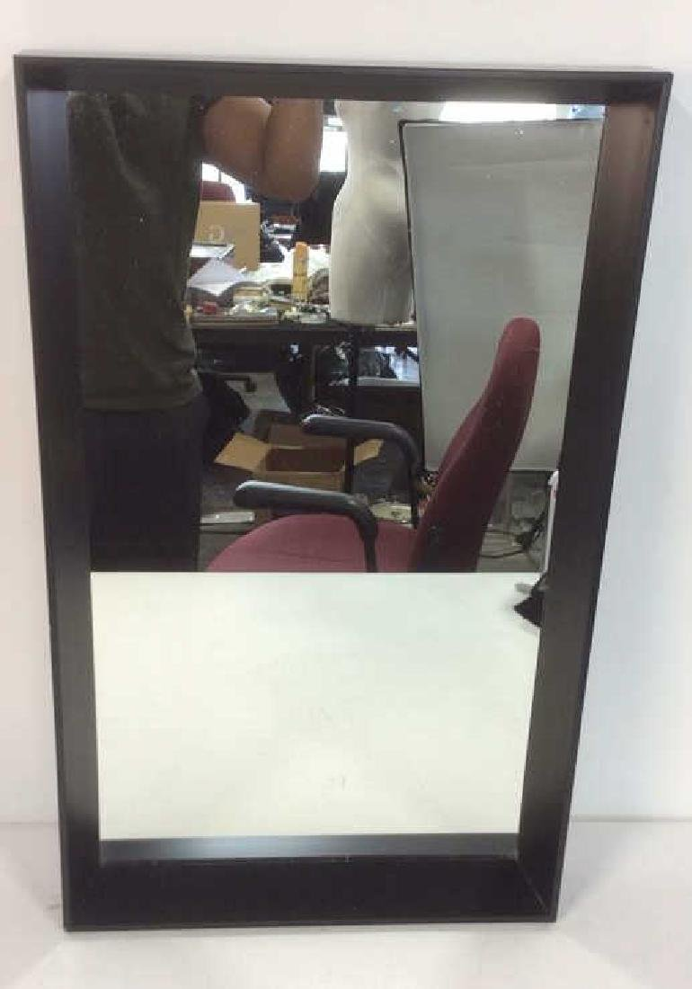 Black Toned Contemporary Transitional Frame Mirror - 3