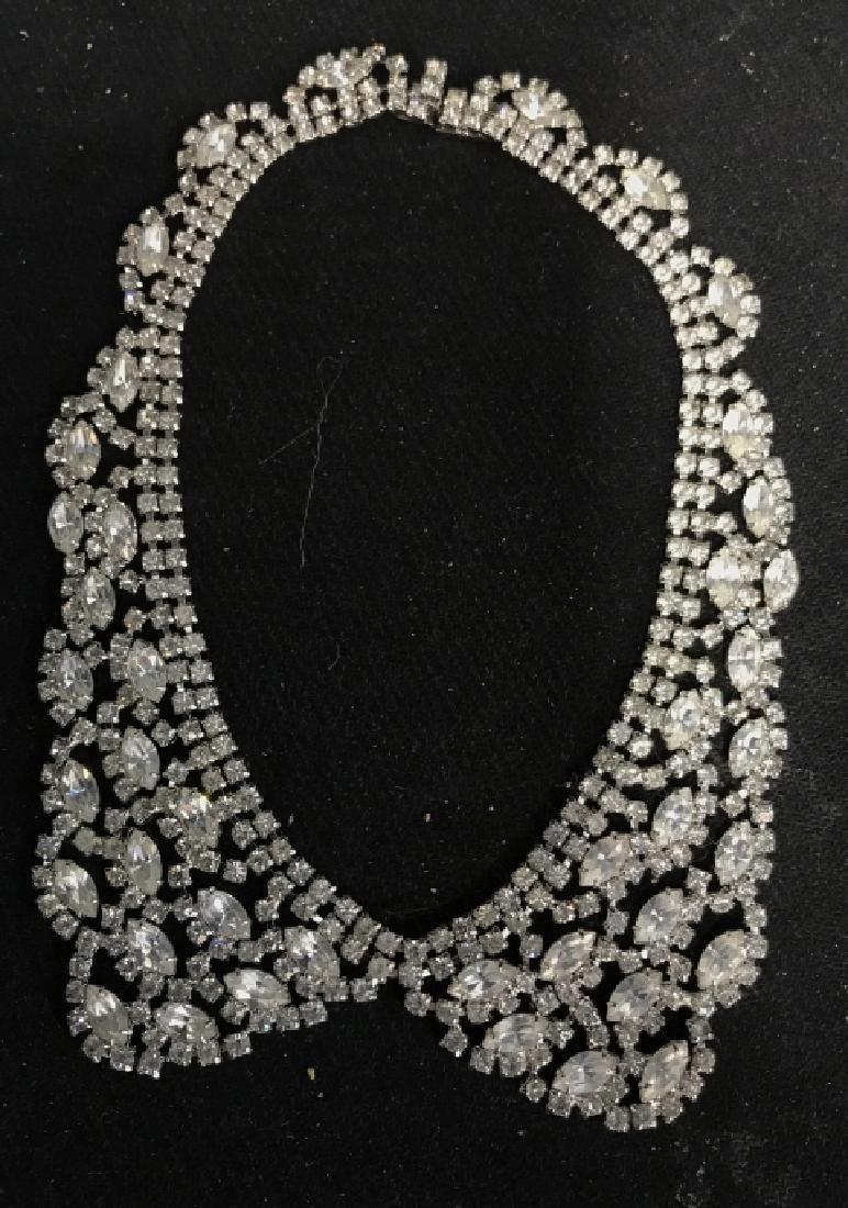 WEISS Vintage Ornate Art Deco Rhinestone Necklace - 10