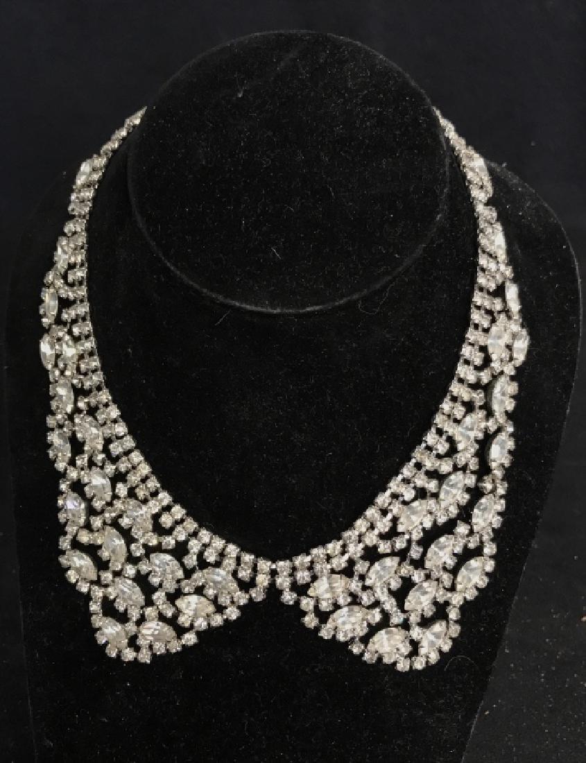 WEISS Vintage Ornate Art Deco Rhinestone Necklace