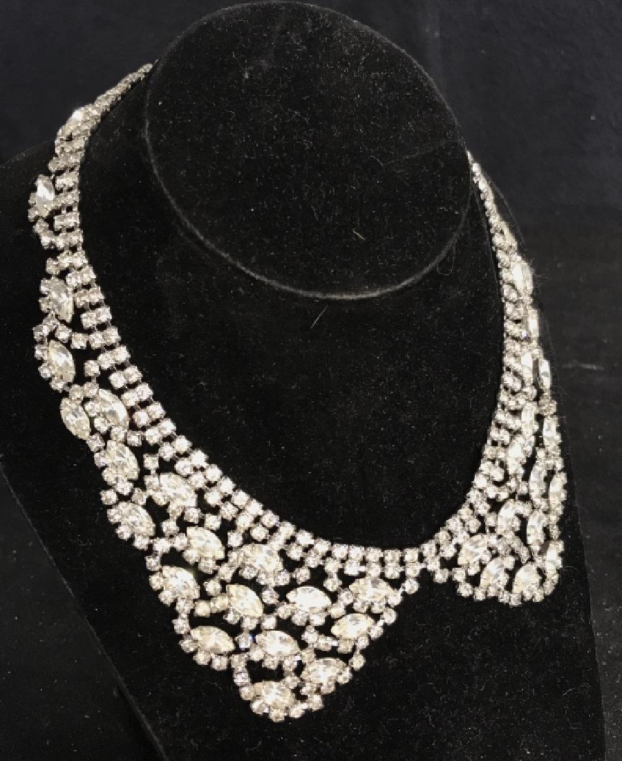WEISS Vintage Ornate Art Deco Rhinestone Necklace - 2