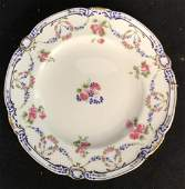 Pair MINTON porcelain Painted Plates, England