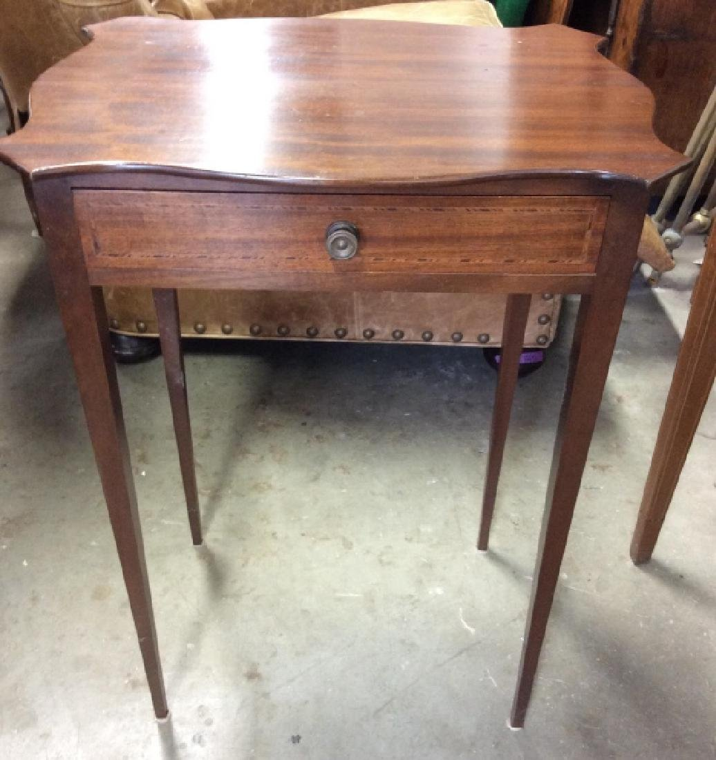 Vintage Wooden End Table W Drawer