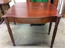 Vintage Carved Wooden Flip Leaf Table