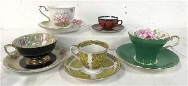 Lot 10 Aynsley Gold Imari & Mixed Tea Cups Saucers