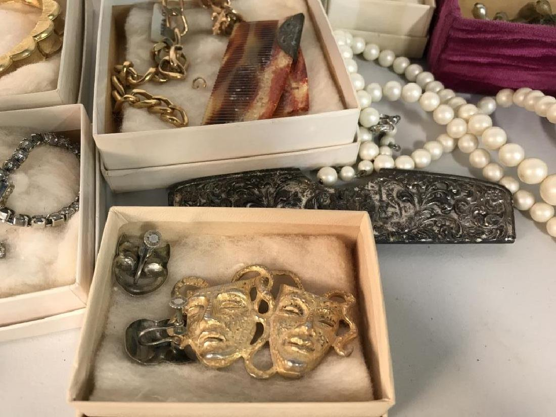 Group Lot Estate Vintage Costume Jewelry, - 8