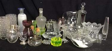 Group Vintage Glass and Crystal Tabletop