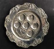 Silver Plate Seder Platter