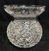 Large Waterford Cut Crystal Vase