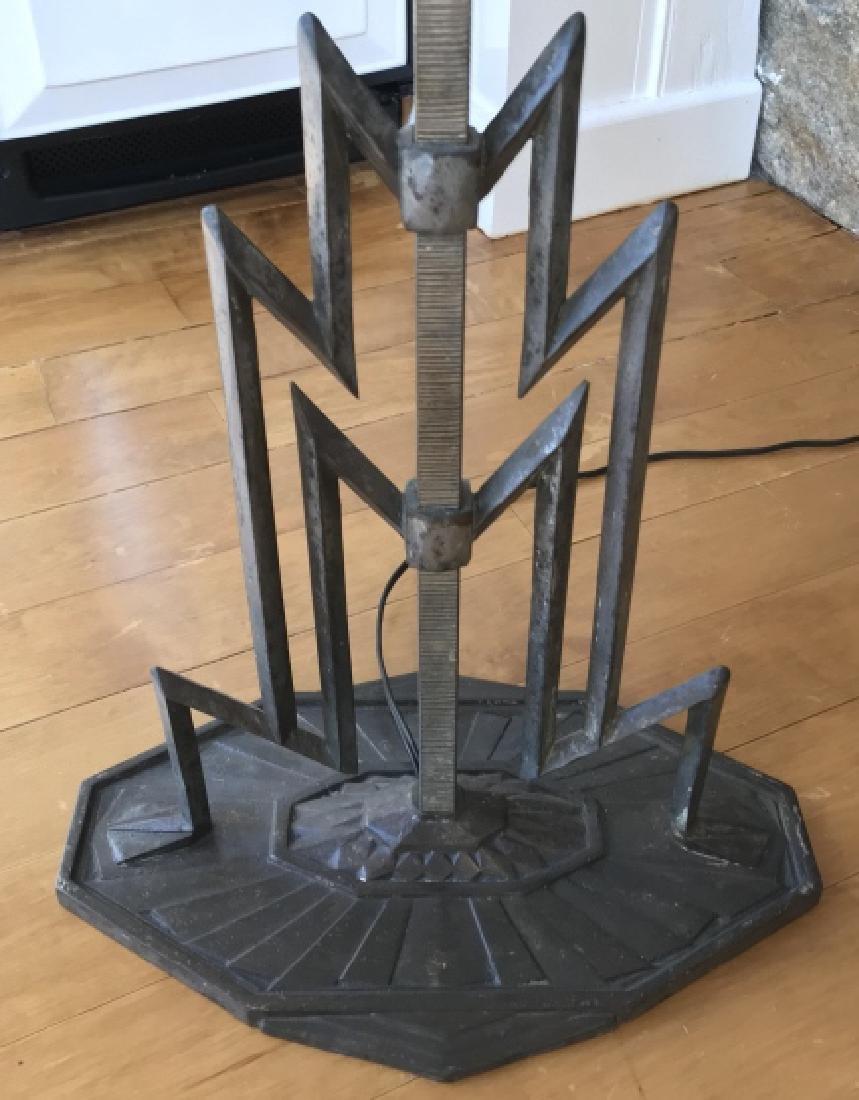 Art Deco Sculpted Metal Floor Lamp