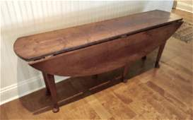 Antique Small Mahogany Queen Anne Drop Leaf Table