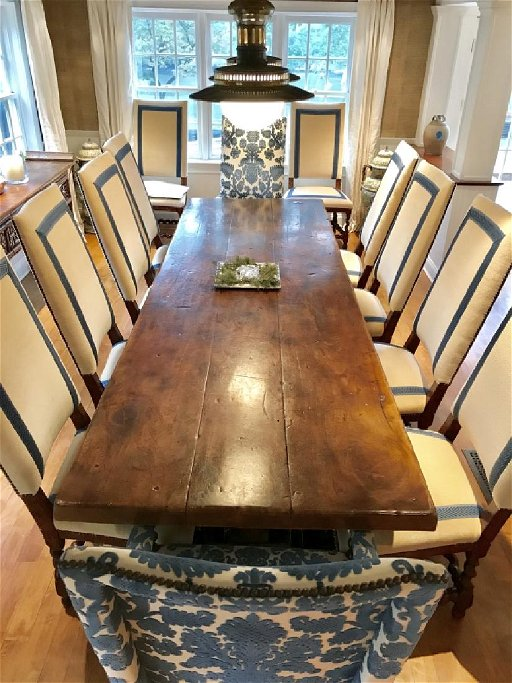 Massive French Antique Wood Dining Table