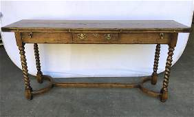 Antique English Folding Top Table w Frieze Drawers