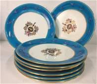 Minton Porcelain Service 8 Dinner Plates