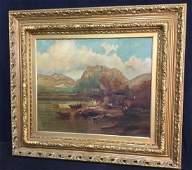 Framed Signed Landscape Oil Painting On Canvas