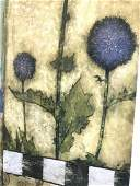 Sean Jacobs Signed Abstract Floral Lithograph