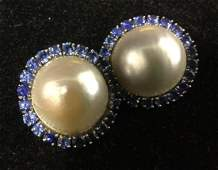Tested 14K Mabe Pearl EarringsEarclipsJewelry