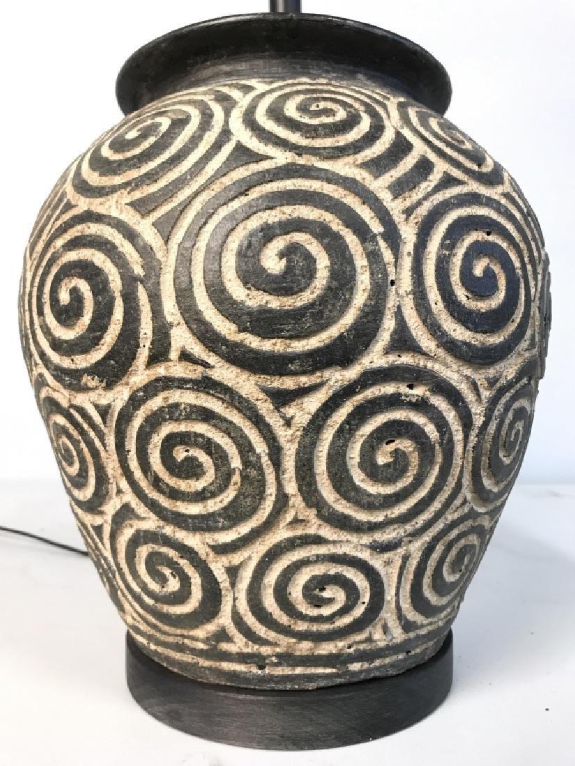 Ceramic Table Lamp W Spiral Design