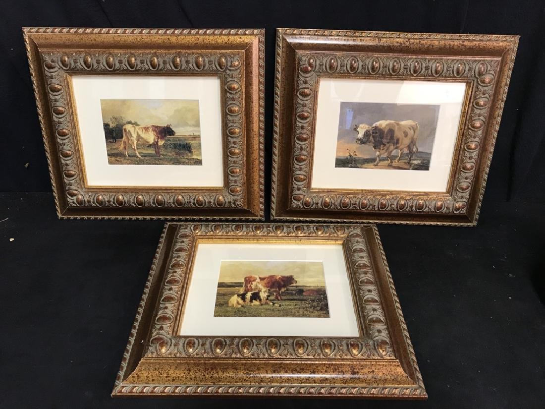 Set 3 Framed And Matted Cow Prints - 2
