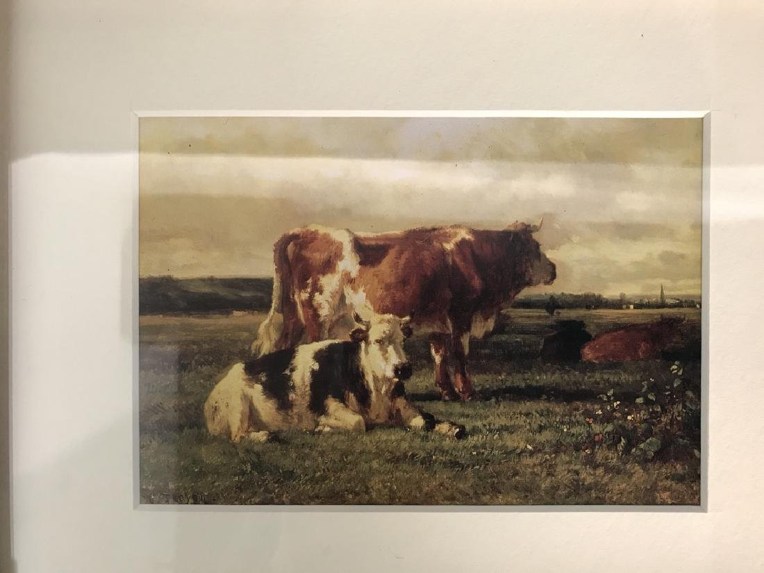 Set 3 Framed And Matted Cow Prints - 3
