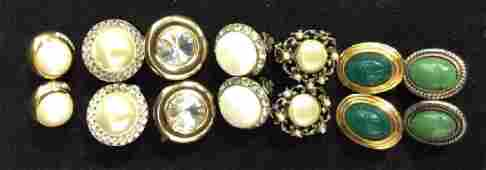 Group Lot 7 pairs Costume Earclips