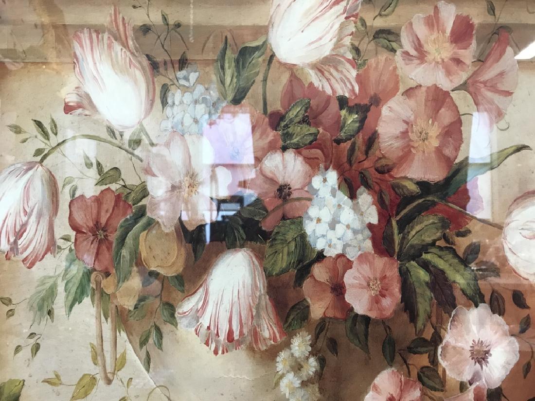 Framed Floral Print - 3