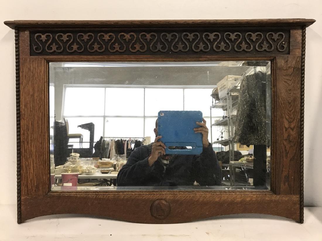 Carved Wooden Frame Mirror