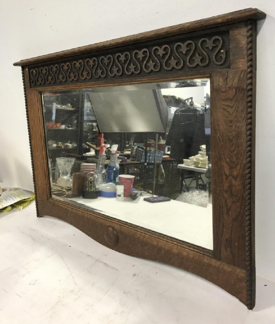 Carved Wooden Frame Mirror - 3