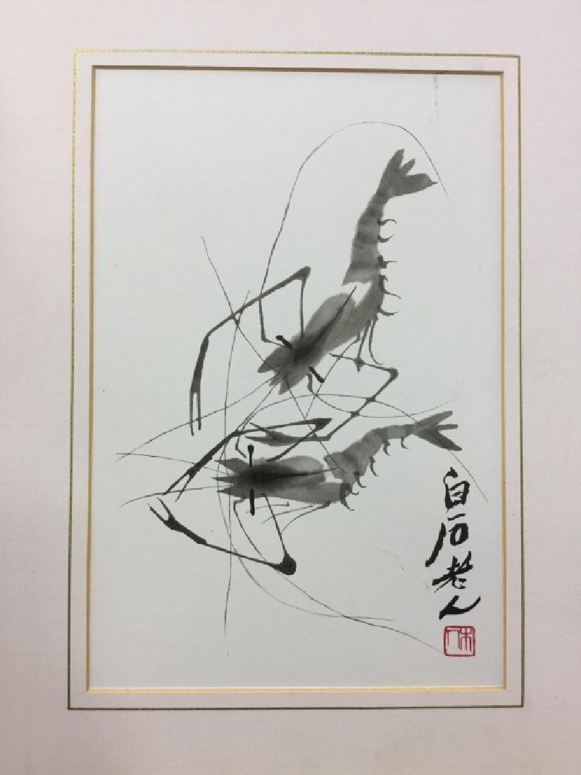 Oriental Style Crawfish Print