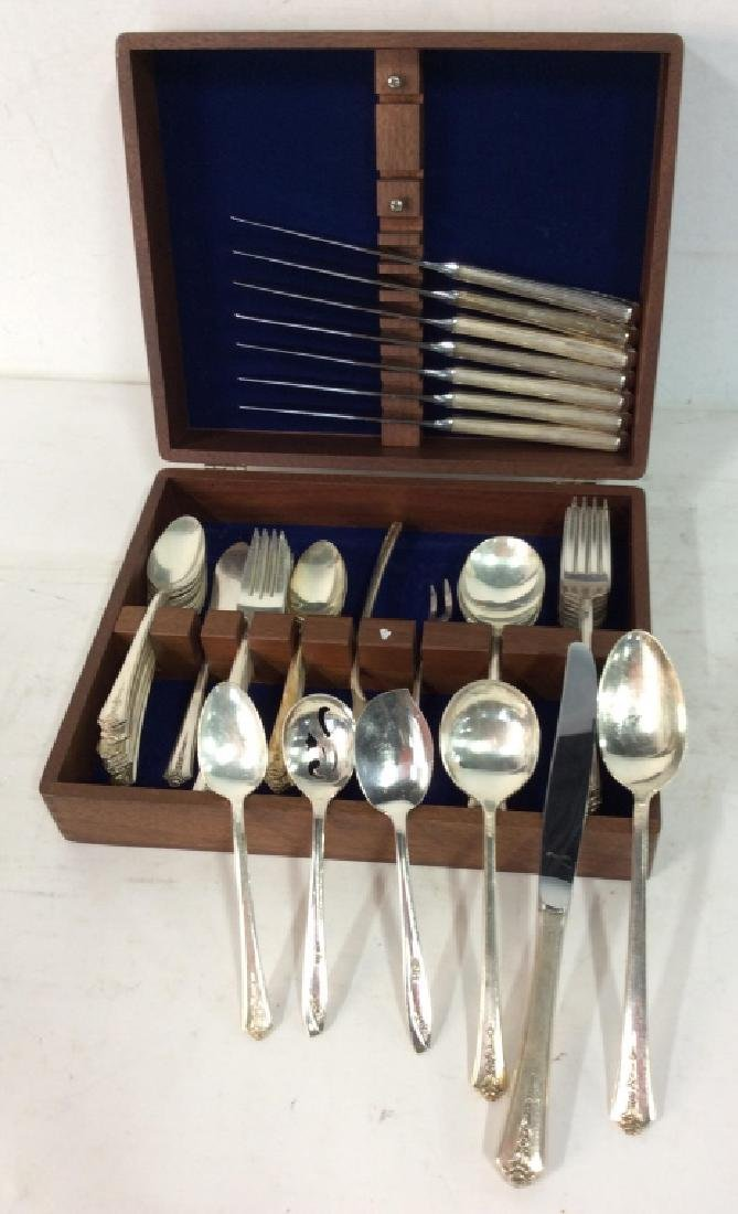 Holmes & Edwards Inlaid Silver Plate 54 pieces