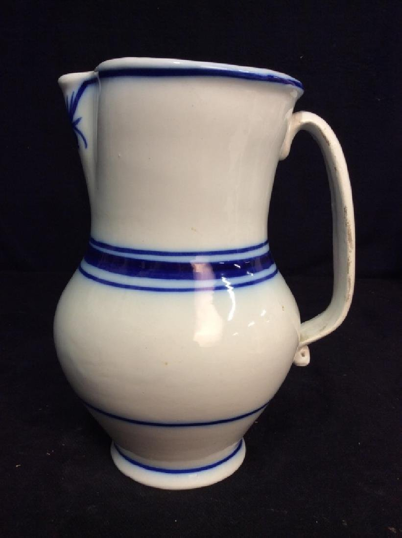 Blue And White Ceramic Pitcher - 4
